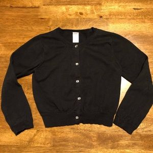EUC Girl Carter's Button Up Sweater Black SZ 6
